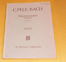 C.Ph.E. Bach * Klaviersonaten - Auswahl Band II * Klavier Noten