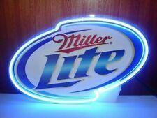 """New Miller Lite Neon Light Sign 14""""x10"""" Beer Gift Lamp Bar Artwork Glass Poster"""