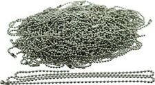 "100 Pack - Silver Stainless Steel Long Fashion Bead Chain Necklace (24"")"