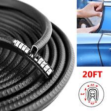 20Ft Car Door Trim Rubber Seal Strip Edge Lock Guard Moulding Protector U Shape