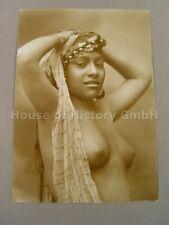 AK145, Foto, Akt, Erotik, NACKTE FRAU, Busen, Brüste, Dunkler Schönheit, um 1910