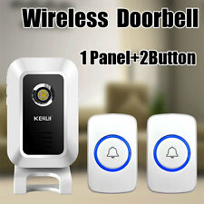 32 Chimes Songs Wireless Doorbell Remote Control 1 Receiver Door bell 2 Button