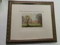 Hatfield House Lydon / Morris Antique Print over 120 yrs old Framed Collectible