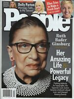 People Magazine  October 5th 2020 Ruth Bader Ginsburg 1933-2020