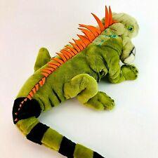 Wild Republic Iguana Large Puppet Soft Toy Plush Cuddly Teddy Lizard 2006