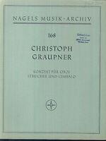 C. Graupner : Konzert für Oboe, Streicher und Cembalo - Partitur