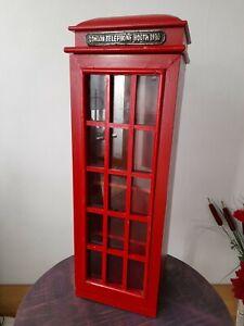 Englische Vitrine Glasschrank Regal rote Telefonzelle London Vitrinenschrank