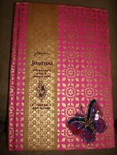 PAPERCHASE JOURNAL BUTTERFLY WITH HAND MADE PAPER AND APPLIQUE DETAIL