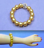 "Dreamz GOLDEN Pearl Single BRACELET made for 11"" Barbie Doll Jewelry"
