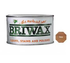 Briwax Teak Furniture Wax Polish Wood Cleaner Restorer 400g Natural Tin Cleaner