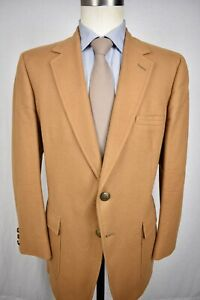 1970's Botany 500 Solid Brown Flannel Wool Two Button Sport Coat Size: 42S