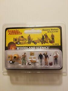 Woodland Scenics Masonry Workers HO Scale A1901