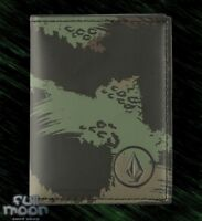 New Volcom Bander Bifold Mens Faux Leather Camo Wallet