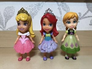 DISNEY MINI ANIMATOR PRINCESS FIGURES BUNDLE X3 - Anna, Sleeping Beauty, Ariel