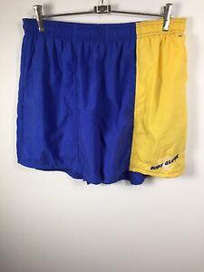 Body Glove VINTAGE Mens Shorts Size XL Blue & Yellow Elastic Waist