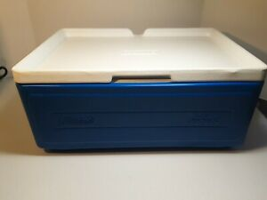 Coleman 24 Can Party Stacker Cooler Blue Pre Owned Seals Firmly