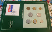 Coin Sets of All Nations France French 1986 -1989 UNC 5 Francs 89 Eiffel w/card