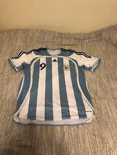 Argentina Adidas Soccer Jersey Size XL Crespo #9