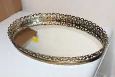 Vintage  Glass Vanity Tray Gold