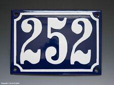 Emaux, E-Mail-numéro de maison 252 in bleu/blanc pour 1955