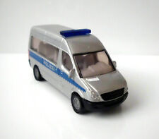 °° Siku - 0804 0805 - Sprinter - Polizeibus - silber,blau - Mercedes Benz °°