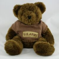 Bear Forces of America US Army Teddy Bear Plush Stuffed Animal Brown Sweater