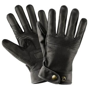 Belstaff Montgomery Leather Motorcycle Gloves - BLACK - ALL SIZES