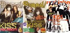 KISS on COVER LOT of 3 Japan Magazines RARE!  Gene Simmons Paul Stanley Ace