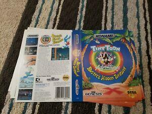 BOX ART ONLY Tiny Toon Adventures Busters Hidden Treasure Sega Genesis Case OEM
