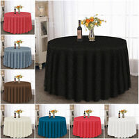 Damask Jacquard Tablecloth Round Table Protector Throw Christmas Party Tableware