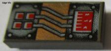 Lego 3069bpa2 Olddarkgray Tile 1x2 Star Wars Space Aquazone du 7166 6107 6198...