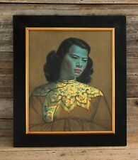"Vintage ""Chinese Girl"" Tretchikoff Print in Awesome Original Vintage Frame 20x24"