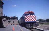 METRA Rock Island Mainline Railroad Locomotive JOLIET IL Original Photo Slide