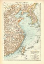 1900 ANTIQUE MAP- CHINA EAST AND KOREA