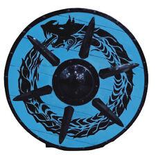 "Beautiful Armor Dragon Design Shield Wooden Viking Shield 30"" Shield"