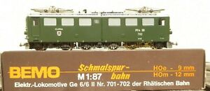 Bemo 1254/2 H0m Locomotive Ge 6/6 II Curia Rhb Epoch 3/6 Well Preserved Boxed