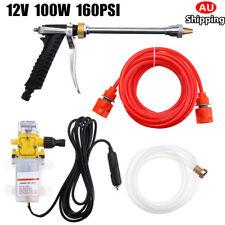 AU 12V 100W 160PSI High Pressure Car Washer Cleaner Water Wash Pump Sprayer Tool