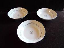"""3 Vintage Fruit Dessert Sauce Bowls in Petite Bouquet by Signature Japan 5 1/2""""D"""