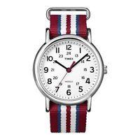 "Timex T2N746, Men's ""Weekender"" Red Strap Fabric Watch, Indiglo, T2N7469J"