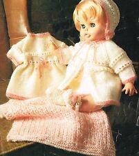 "Dolls  knitting pattern.18- 20"" doll. Laminated copy. ( V Doll 141)"