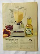 1970 Magazine Advertisement Page For Osterizer Liquefier-Blender Kraft Oil Ad