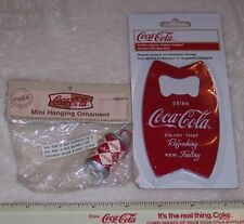 WORLD OF COCA COLA BOTTLE OPENER FRIDGE MAGNET & MINI HANGING ORNAMENT