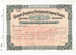 Hannan's Proprietary Development Co. Ltd., 1895, SPECIMEN, nice, VF