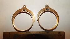 2 Vtg  Brass IKE MORGAN Dollar Spinning Coin Holder  Bezel For Key Chain Pend