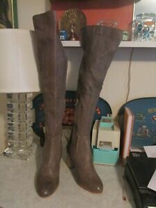 Free People Everly Tall Leather Boots Womens Sz 38 Pre-owned