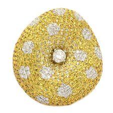 18k White Gold 1.02Ct Diamond/Sapphire Mushroom Shaped Ring Size 6 (Sizable)