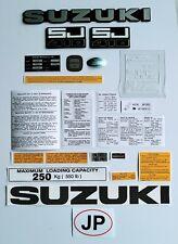 SUZUKI SJ 410 / SJ40 DECALS AND EMBLEMS SET