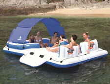 PVC 6-8 Person Fishing Swimming Water Sport Inflatable Boat Rest Floating Island
