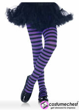 4-6 years Girls Black And Purple Striped Tights by Leg Avenue