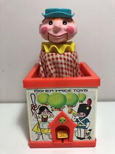 Retro Vintage Fisher Price Jack In The Box Puppet 1970 Toy